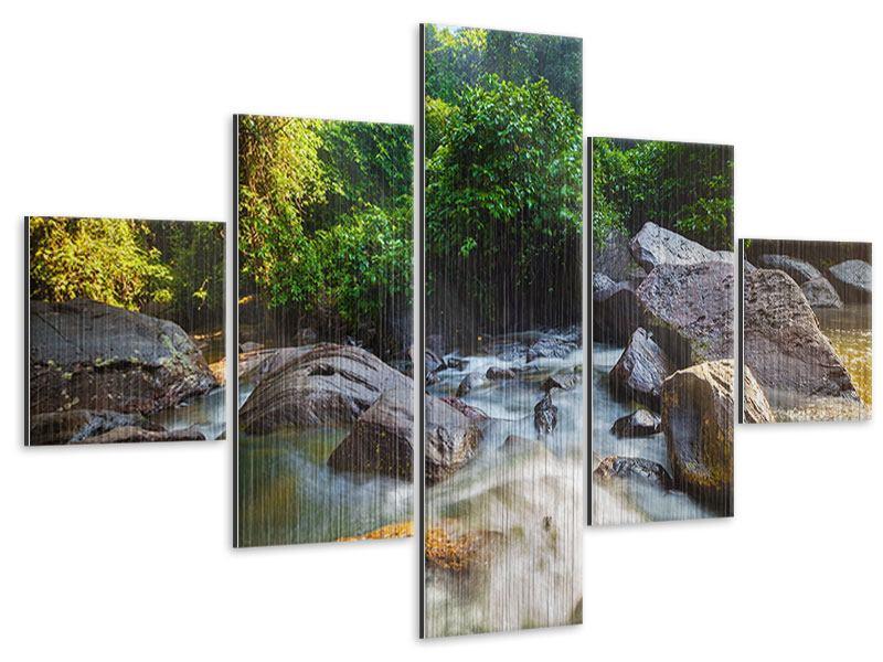 Metallic-Bild 5-teilig Das Gewässer
