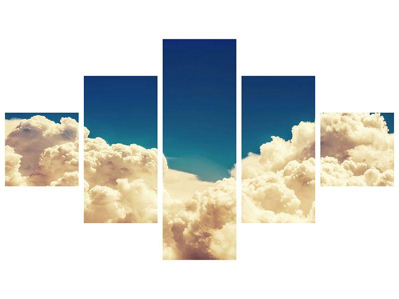 Metallic-Bild 5-teilig Himmelswolken