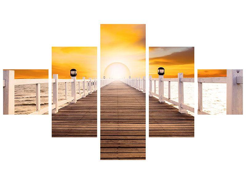 Metallic-Bild 5-teilig Die Brücke Ins Glück