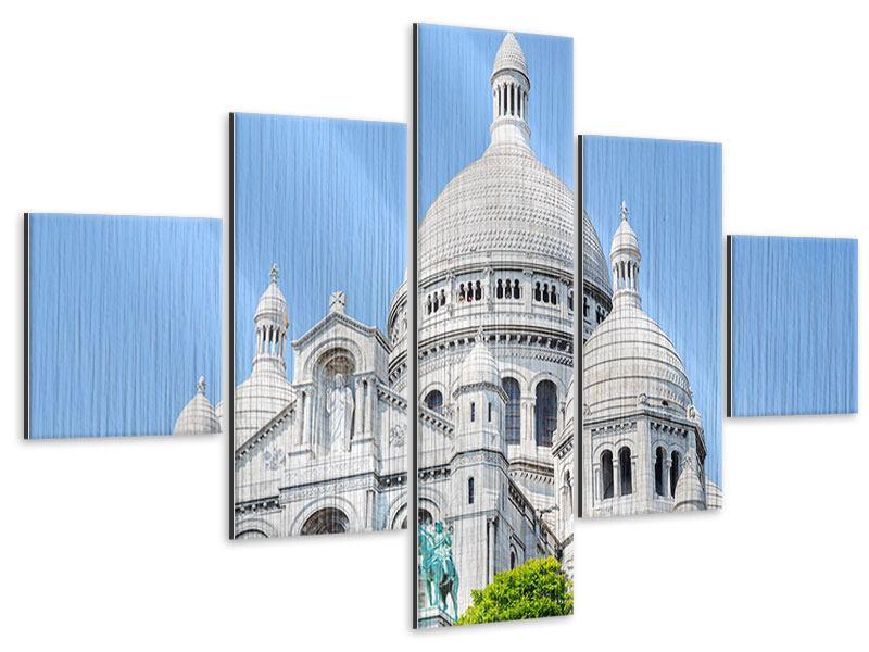 Metallic-Bild 5-teilig Paris- Montmartre