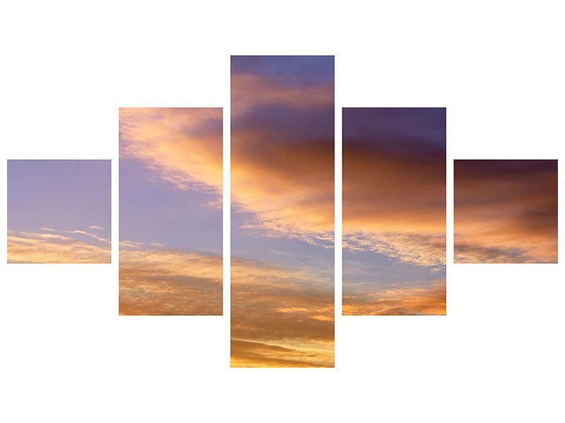 Metallic-Bild 5-teilig Himmlisch