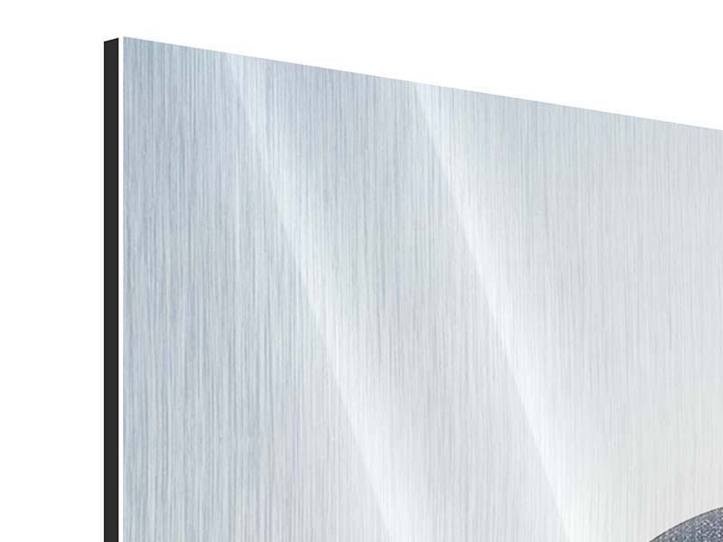 Metallic-Bild 5-teilig Steinbalance