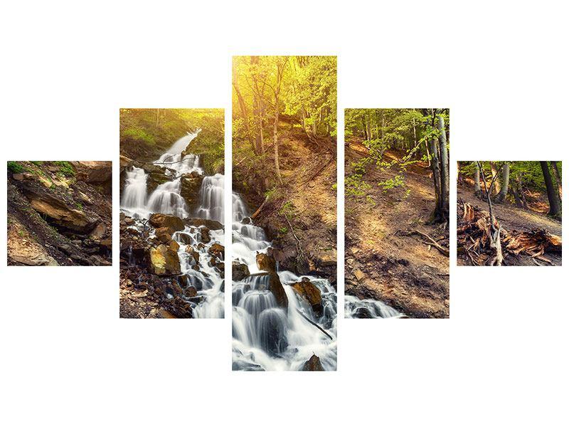Metallic-Bild 5-teilig Naturschönheit