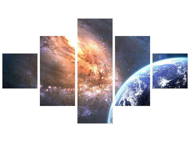 Metallic-Bild 5-teilig Universus