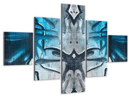 Metallic-Bild 5-teilig Painting On The Wall