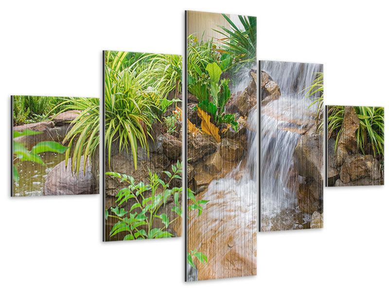 Metallic-Bild 5-teilig Paradiesgarten