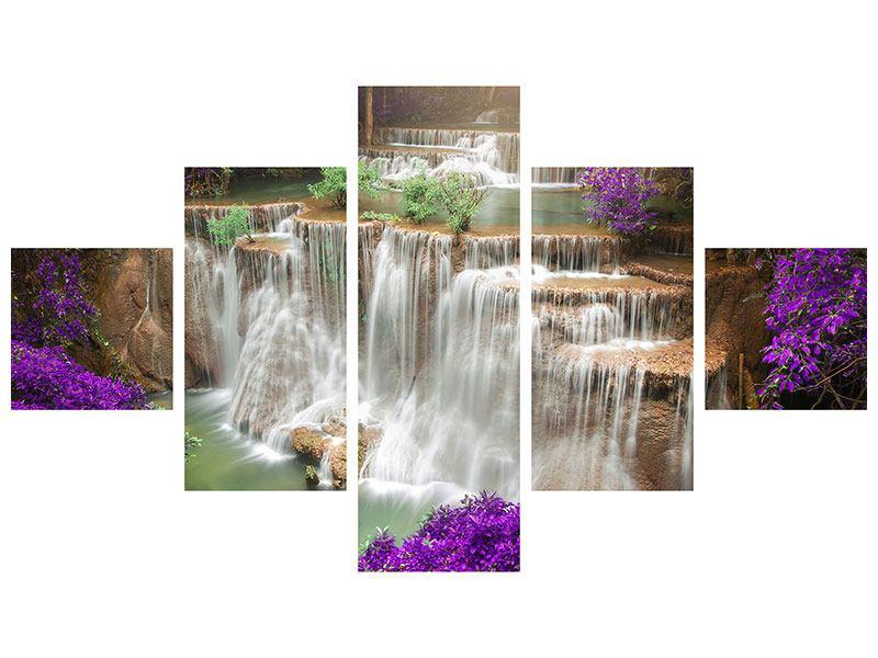 Metallic-Bild 5-teilig Garten Eden
