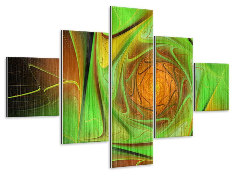 Metallic-Bild 5-teilig Abstraktionen