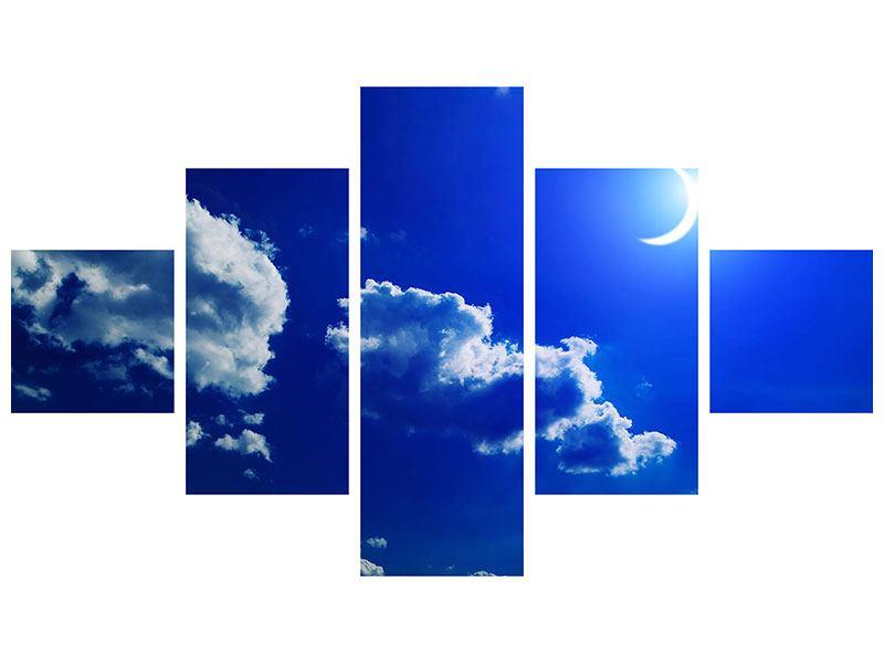 Metallic-Bild 5-teilig Der Mond
