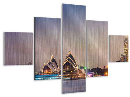 Metallic-Bild 5-teilig Opera House
