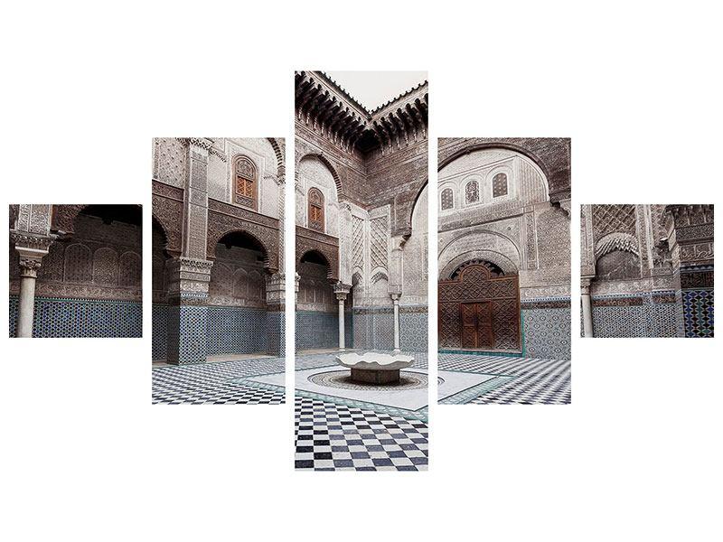 Metallic-Bild 5-teilig Orientalischer Hinterhof