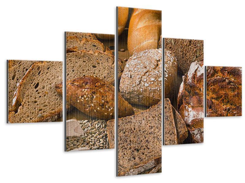 Metallic-Bild 5-teilig Brotarten