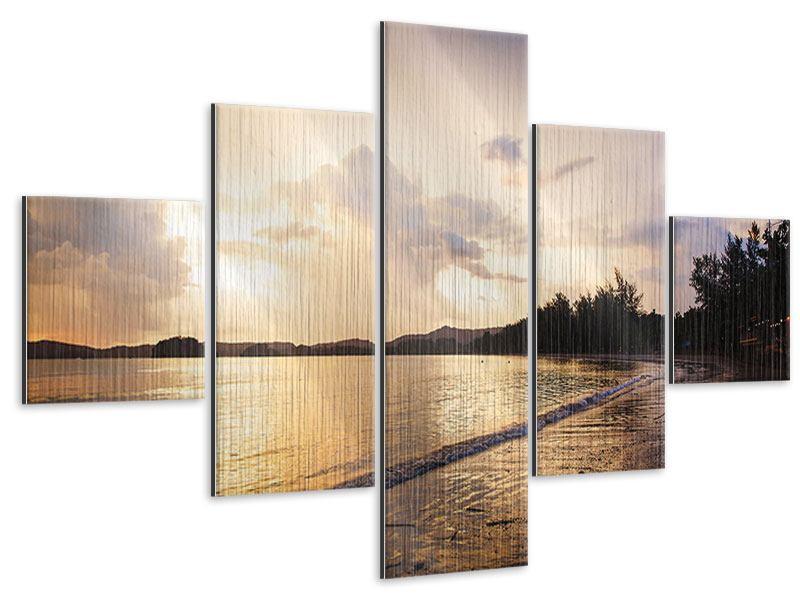 Metallic-Bild 5-teilig Das Ufer