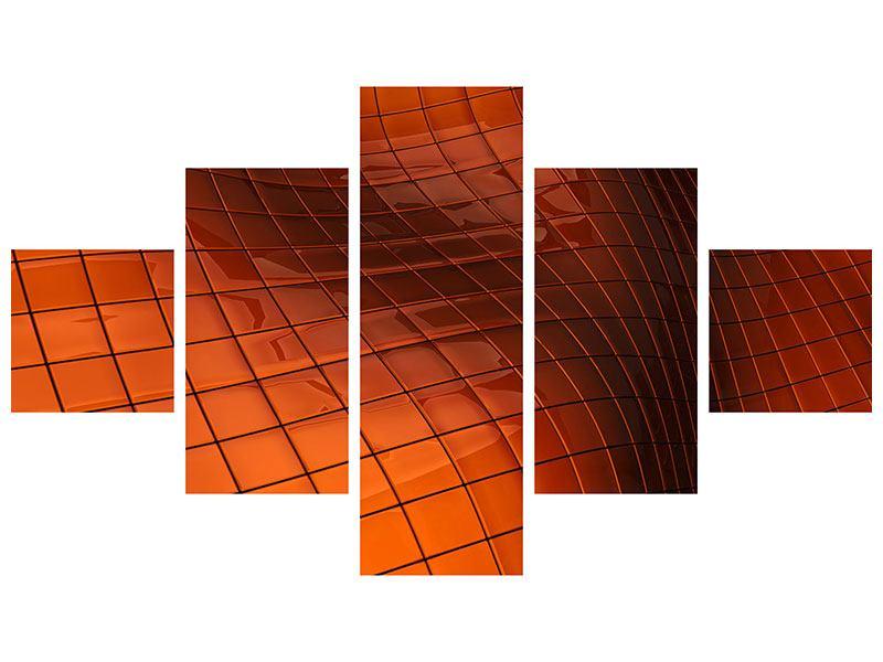 Metallic-Bild 5-teilig 3D-Kacheln