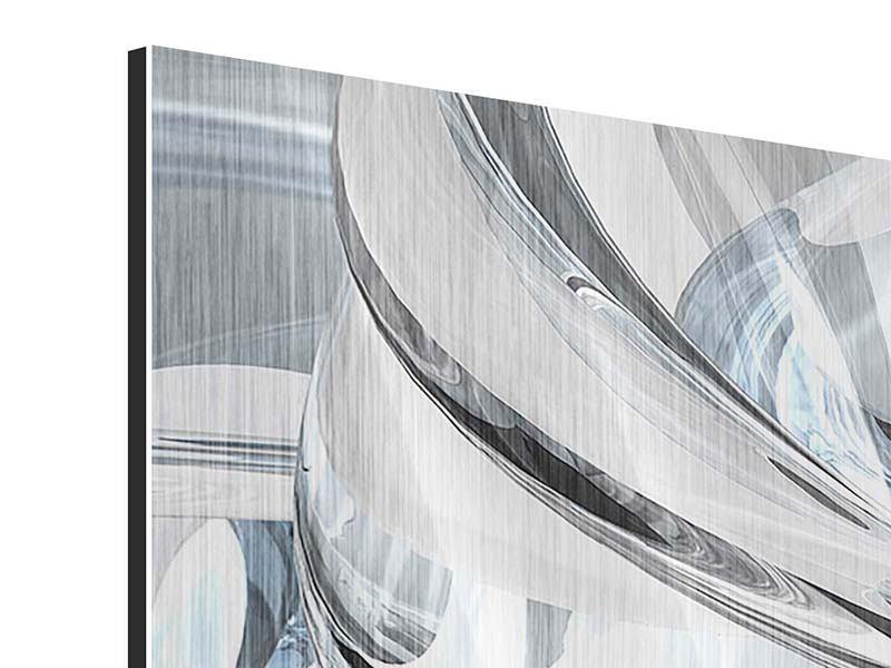 Metallic-Bild 5-teilig Abstrakte Glasbahnen