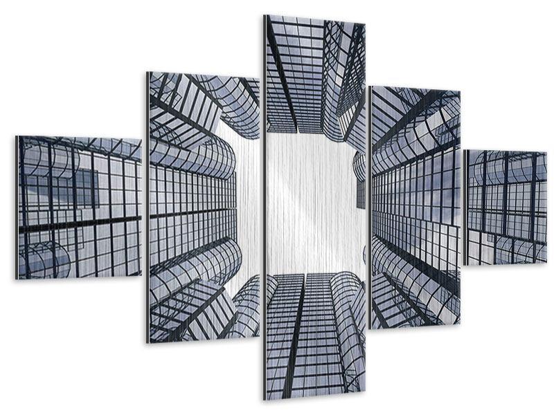 Metallic-Bild 5-teilig Besondere Perspektive