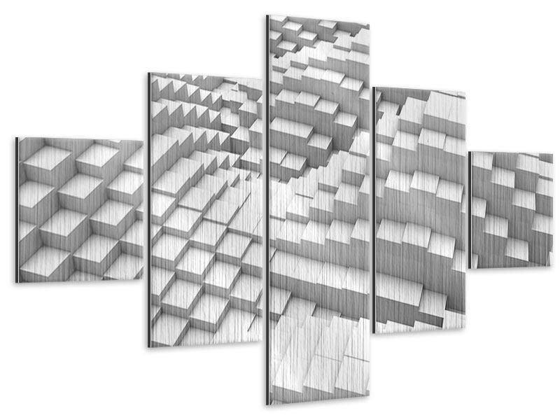 Metallic-Bild 5-teilig 3D-Elemente