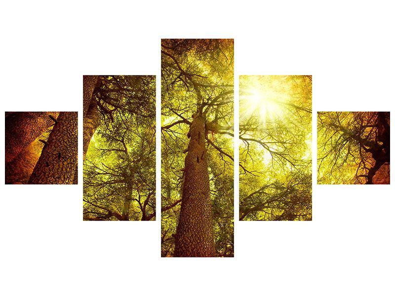 Metallic-Bild 5-teilig Cedar Baum