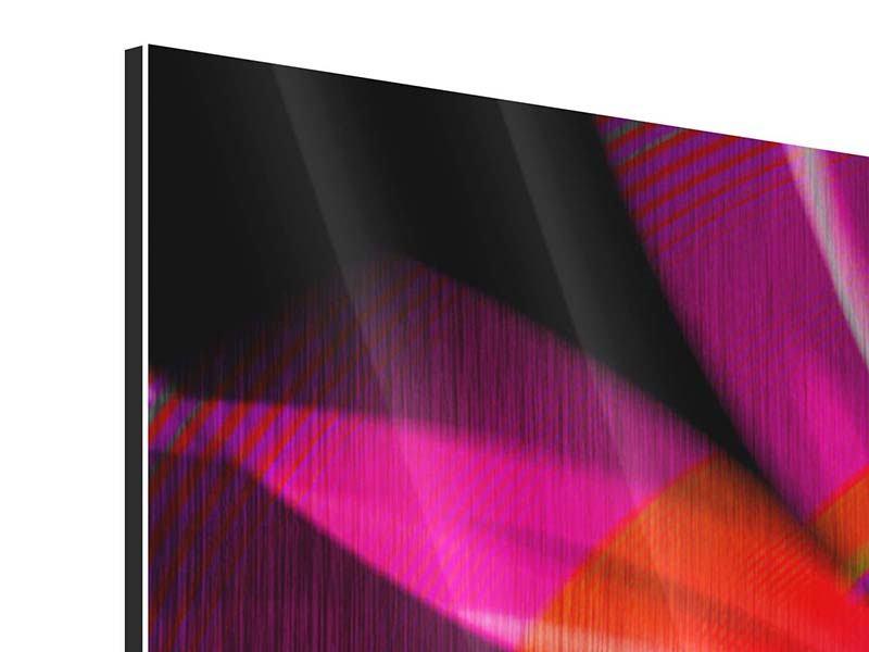 Metallic-Bild 5-teilig Abstrakt Flower Power