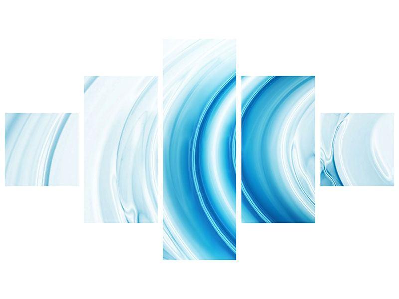 Metallic-Bild 5-teilig Abstraktes Glas