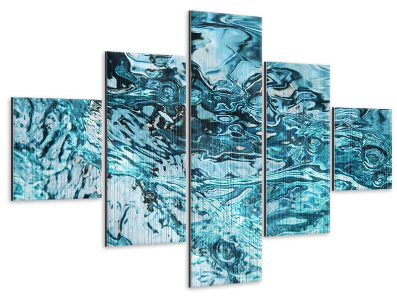 Metallic-Bild 5-teilig Schönheit Wasser