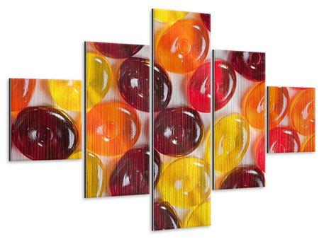 Metallic-Bild 5-teilig Bonbons