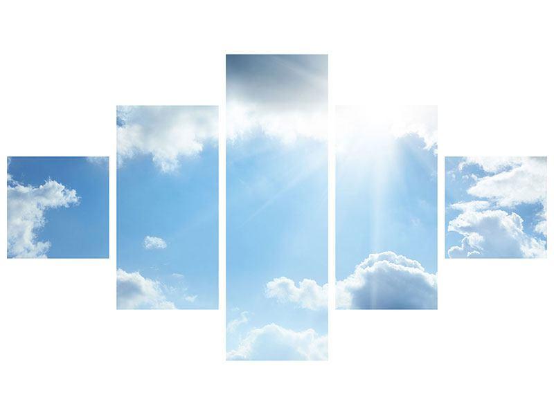 Metallic-Bild 5-teilig Himmelshoffnung