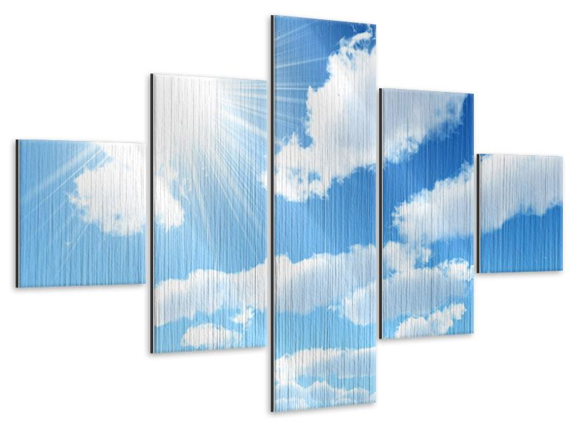Metallic-Bild 5-teilig Am Himmel