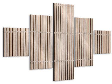 Metallic-Bild 5-teilig Lucky Bamboo