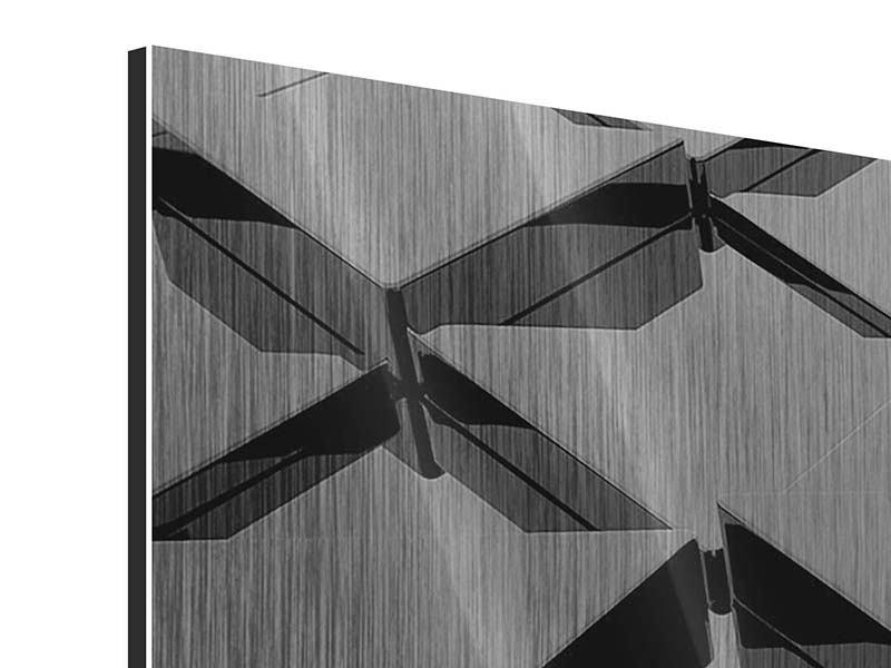 Metallic-Bild 5-teilig 3D-Dreiecksflächen