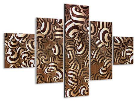 Metallic-Bild 5-teilig Schokoladen-Bonbons