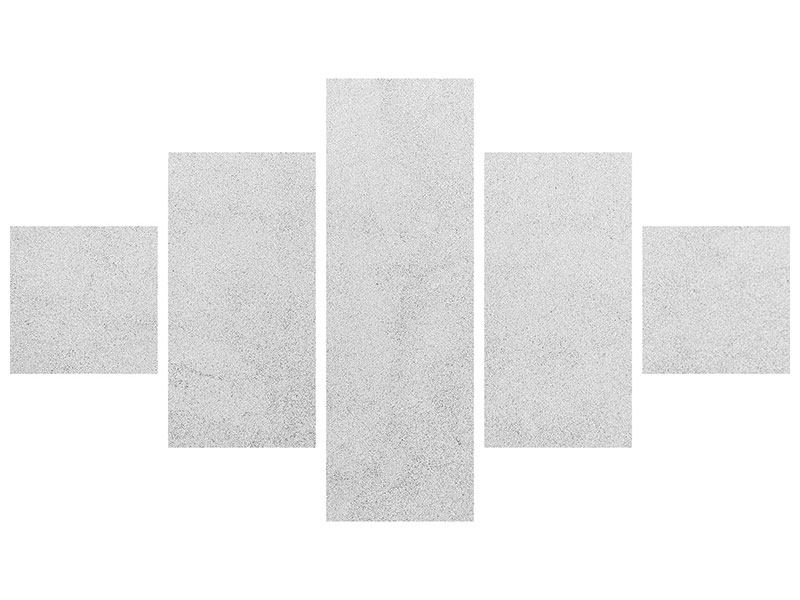 Metallic-Bild 5-teilig Beton in Hellgrau