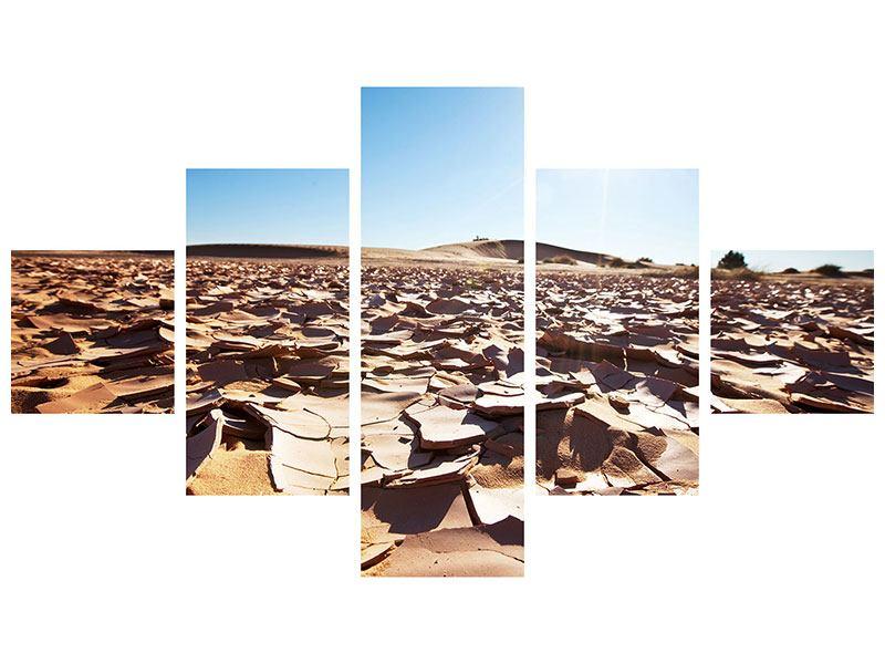 Metallic-Bild 5-teilig Dürre