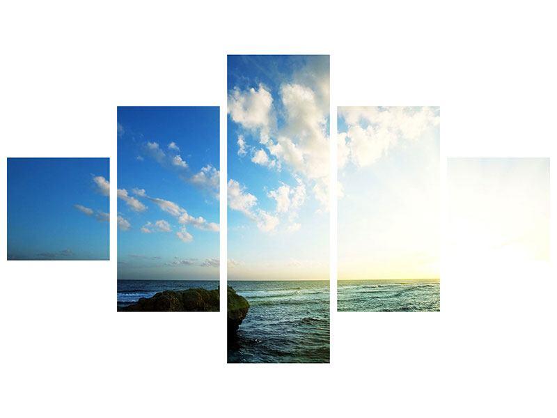 Metallic-Bild 5-teilig Die See