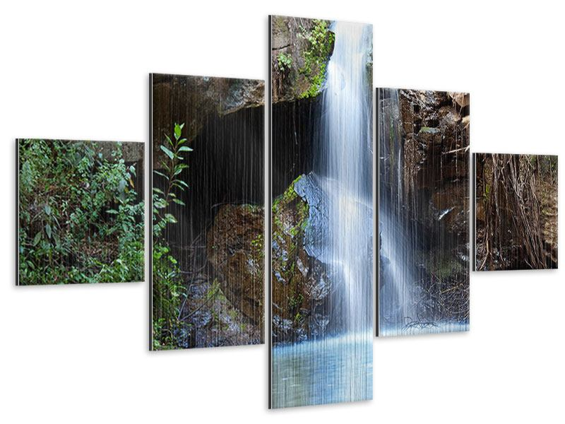 Metallic-Bild 5-teilig Die blaue Lagune