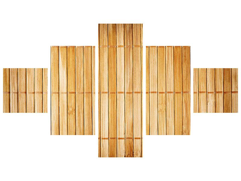 Metallic-Bild 5-teilig Bambusrohre