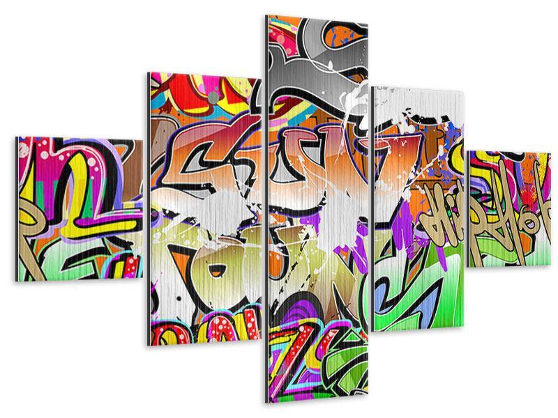 Metallic-Bild 5-teilig Writings