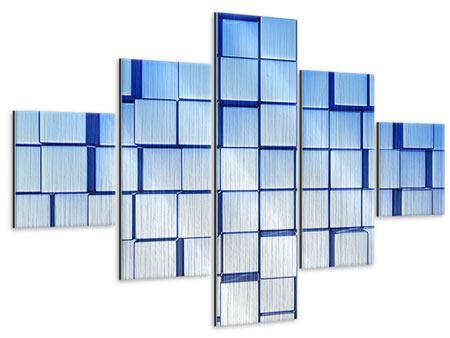 Metallic-Bild 5-teilig 3D-Symetrie