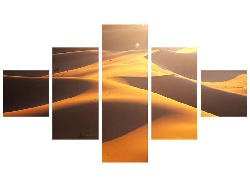 Metallic-Bild 5-teilig Wüstenwanderung