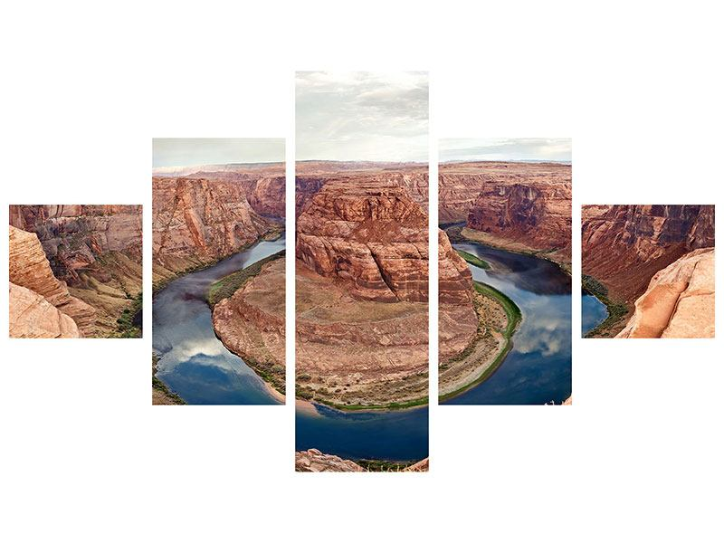 Metallic-Bild 5-teilig Horseshoe Bend