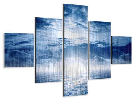 Metallic-Bild 5-teilig Mystischer Himmel