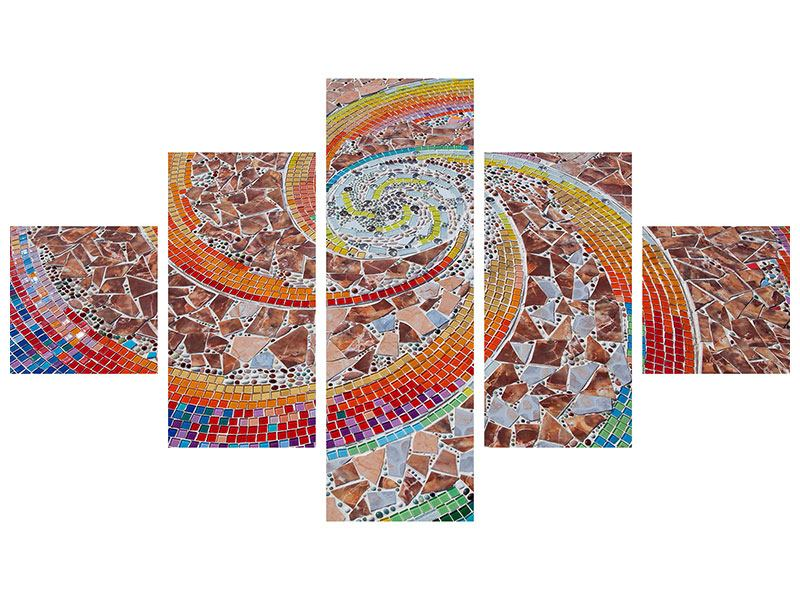 Metallic-Bild 5-teilig Mosaik