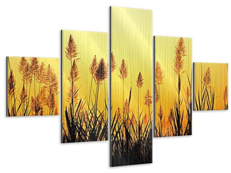 Metallic-Bild 5-teilig Die Blumen des Feldes