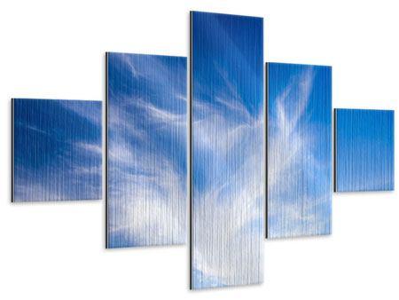 Metallic-Bild 5-teilig Schleierwolken