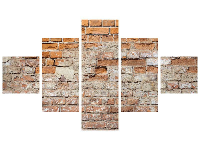 Metallic-Bild 5-teilig Alte Klagemauer