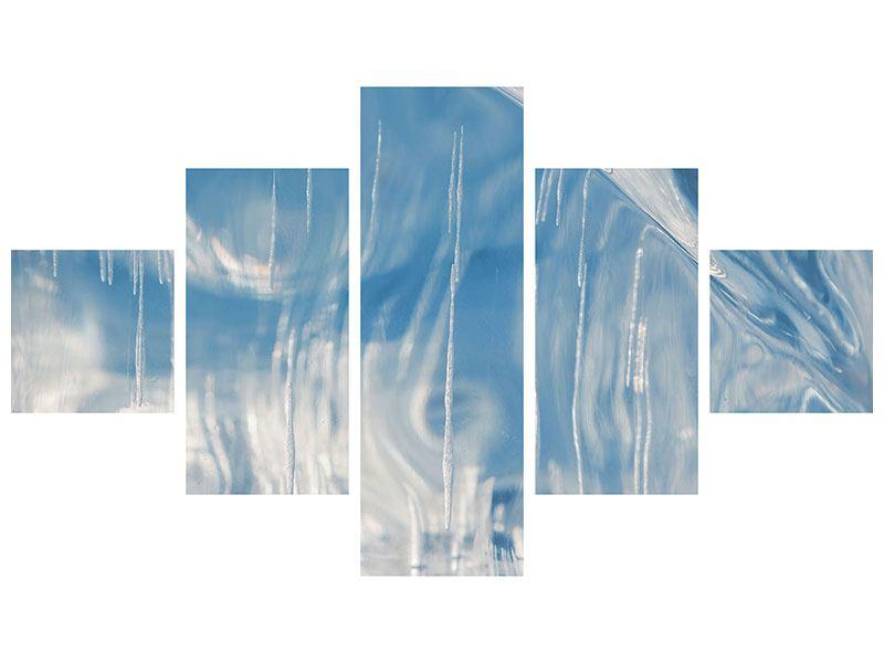 Metallic-Bild 5-teilig Das Eis des Baikalsees
