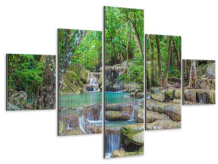 Metallic-Bild 5-teilig Wasserspektakel