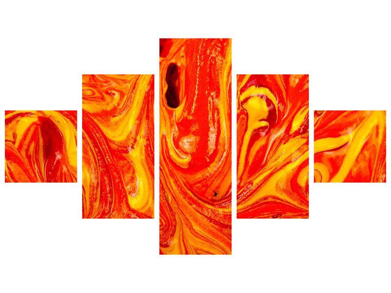 Metallic-Bild 5-teilig Wandgemälde