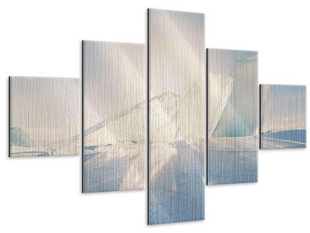 Metallic-Bild 5-teilig Eislandschaft