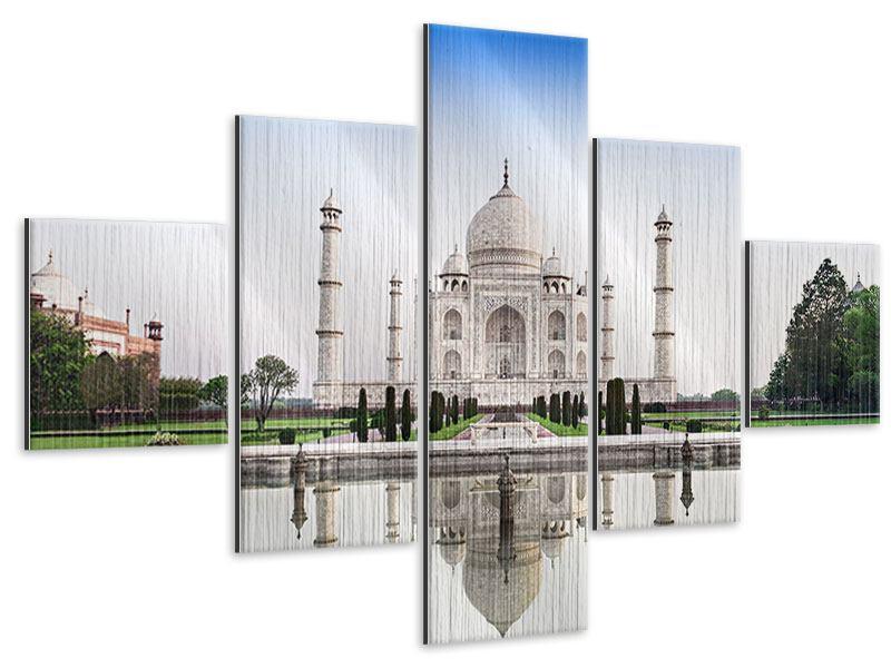Metallic-Bild 5-teilig Taj Mahal